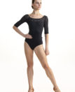 AW-B101 Constance with Kara Lace Black - Front