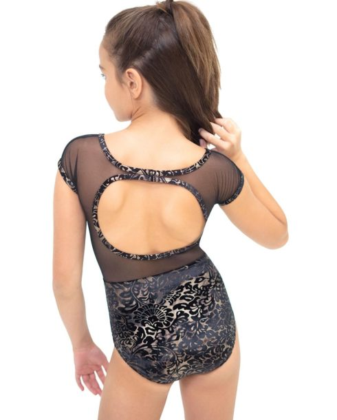 capezio_damask_mesh_yoke_notched_leotard_girls_black_11465t_b_1